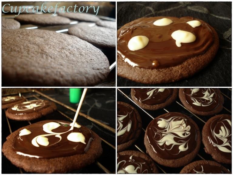 Czekoladowe czarno-białe ciasteczka