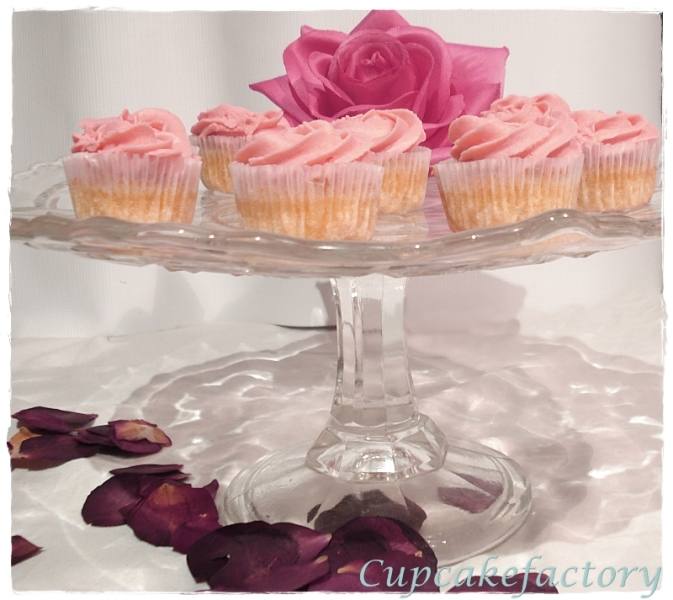 Różane mini cupcakes