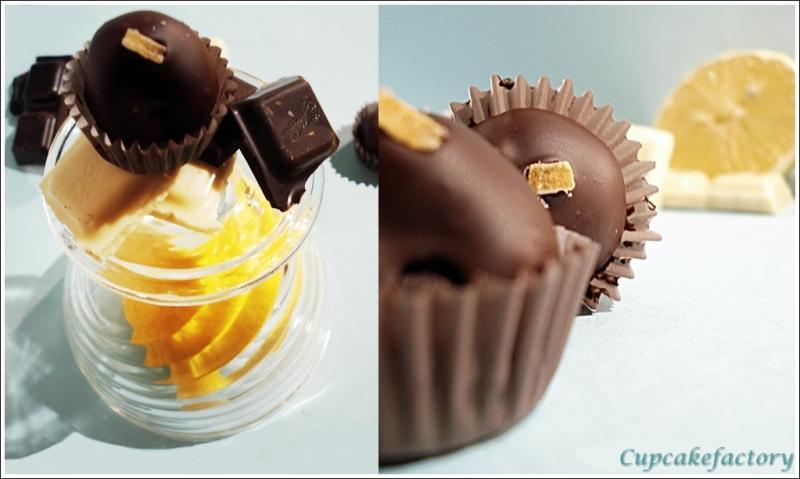 Cytrynowe trufle z białej czekolady i mascarpone