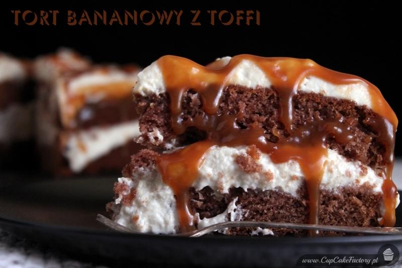tort bananowy z toffi