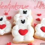 ciasteczka na walentynki - misie