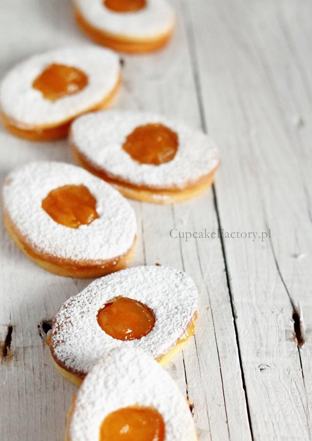 kruche ciasteczka z marmoladą
