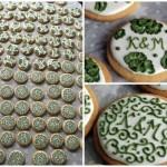ciasteczka ślubne z monogramem