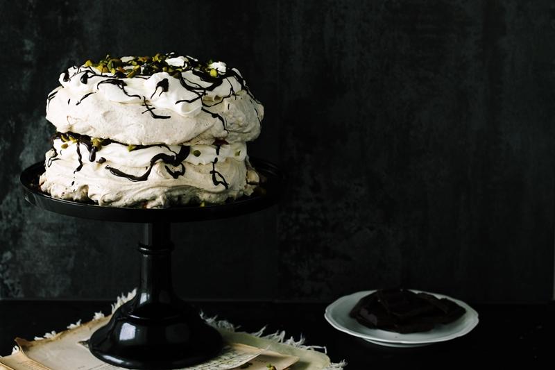 czekoladowo-miętowa pavlova